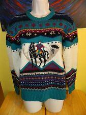Women's Vintage Woolrich Horse Wool Knit Sweater Size Medium