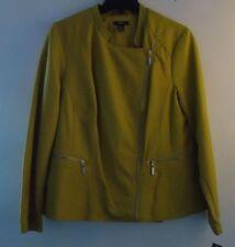 Alfani Motorcycle Style Women's Zip Up Jacket Luxe Lime NWT  Size XL