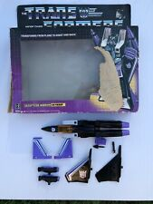 VTG Transformers G1 Decepticon Warrior Skywarp & Box 1984