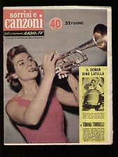 SORRISI CANZONI 50/1958 TORRIELLI BONI LATILLA FAUSTO CIGLIANO DORIS DAY ORLANDI