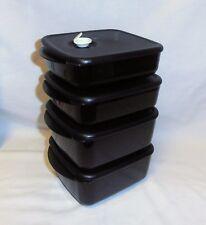 BNIP TUPPERWARE HEAT N EAT for Four SET BLACK (NEW COLOUR!!)