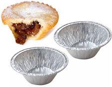 50 x Small Foil Pie Dishes Mince Deep Tart Tarts Pies Patty Tins Round Dish Pans