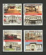 TURKEY 2018 OUR NATIONAL STRUGGLE MUSEUMS THEMED OFFICIAL POSTAGE 5 STAMPS MINT