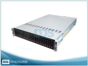 Supermicro SuperChassis CSE-217HQ 4N 24 SFF (8)E5-2620 6-C 2Ghz 256GB  (2)1620W