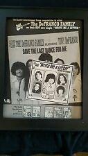 The DeFranco Family Write Me A Letter Rare Original Promo Poster Ad Framed!