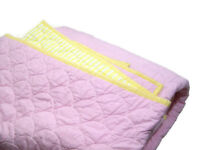 Pottery Barn Kids Multi Colors Pink Yellow Stitched Reversible Twin Quilt 1 Sham