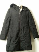 GIRLS BLUE ZOO AGE 9-10 YEARS BLACK HOODED PADDED QUILTED COAT JACKET KIDS
