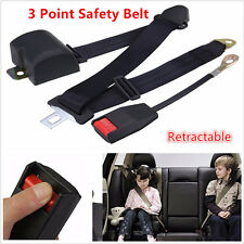 3 Point Adjustable Car Seat Belt Bolt Extension Belt Buckle Strap Safety Buckle