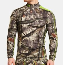 Under Armour Mossy Oak Treestand Infrared Base Layer Hunting Top and Mask Size-L