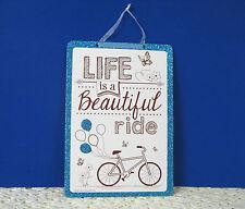 "Advantus Corp. 2014 Hanging Sign ""Life is a Beautiful Ride"" Hard Cardboard"