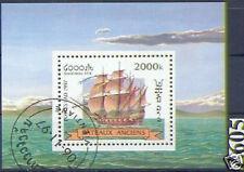 Laos 1997: Segelschiff-Block Nummer 164, gestempelt