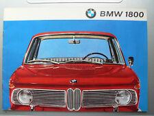 Beau  Catalogue    BMW  1800            1965   brochure  prospectus