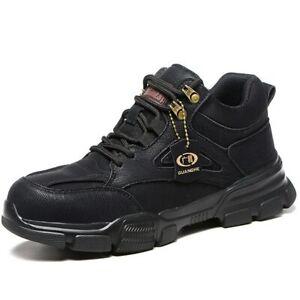 Botas De Seguridad Con Punta De Acero Hombres Zapatos De Trabajo Indestructibles