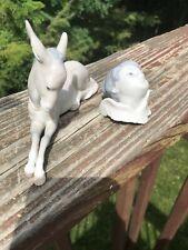 Lladro Children Nativity Donkey Figurine and a Lladro Christmas Ornament Head