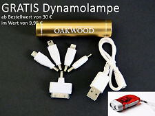 OAKWOOD PowerBank AKKU Handycharger mobiles Laden -Gold - INKL. 5 Adapterstecker