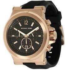 Michael Kors Black Rubber Chronograph Mens Watch MK8184
