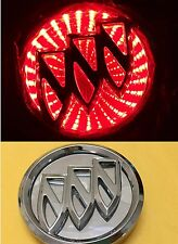 Waterproof 3D LED Car Logo Red Light Auto Rear Emblems Lamp For Buick Excelle