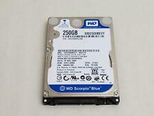 "Western Digital Scorpio Blue WD2500BEVT 2.5"" 250GB SATA Laptop Hard Drive"