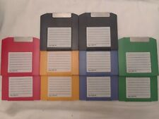 100 MB Iomega Zip Drive Colored PC Formatted Disks - Lot of 10 Pack - Guaranteed