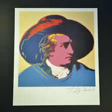 """Andy Warhol, """"Goethe"""", Signed Print from VIP Book.  Hand signed by Warhol w/ COA"""