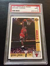 1991/92 MICHAEL JORDAN 1ST EVER UPPER DECK CARD PROMO #1 PSA 9 CHICAGO BULLS PE