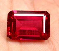 17.55 Ct Natural Mogok Pink Ruby Emerald Cut AGSL Certified Stunning Gemstone !!