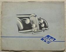 RILEY 1 ½ & 2 ½ LITRE Sales Brochure Jul 1949 Saloon DROPHEAD COUPE Roadster