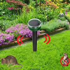 Ultrasonic Sonic Yard Solar Power Mouse Mice Mole Insect Pest Rodent Repeller