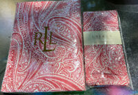RALPH LAUREN HOME~VERENDA PAISLEY RED ~ With 4 Napkins 100% Cotton