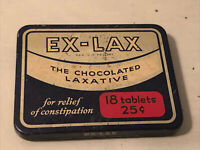 Vintage Ex-Lax Chocolated Laxative Medicine Tin – Old Medical Advertising