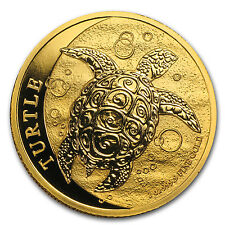 2014 1 oz Gold New Zealand Mint $200 Niue Hawksbill Turtle Coin - Sku #85264