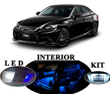 LED Package - Interior + License Plate + Vanity for Lexus IS 250 IS 350 (13 Pcs)
