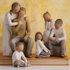 Willow Tree Parents with Four Children Figurine Gift Set Family Group