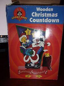 Looney Tunes Tweety & Sylvester Wooden Christmas Countdown Advent Calendar