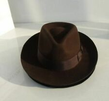 Men's Wool Fedora Hats Felt Adult Fashion Popular Head Wear  Wide Brim Caps
