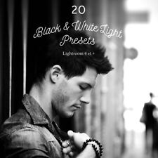 Pack 20 Professional Presets Black & White Edition for Lightroom 4, 5, 6 & CC