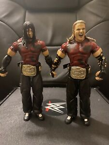 WWE Jakks Deluxe Classics Figure Lot Ringside The Hardy Boys Matt Jeff The Brood