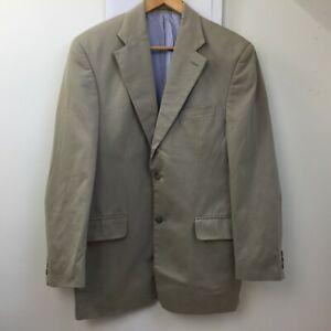 Rochas Cotton Khaki Brown Cotton Blazer Jacket Size UK 38R