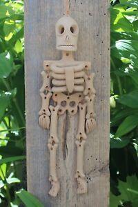 Day of the Dead Beige Skeleton Handmade Clay Atzompa Oaxaca Mexican Folk Art