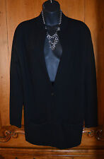 TSE BLACK WOOL BLEND XS LONG SLEEVE FRONT 1 Button Blazer SWEATER CARDIGAN TOP