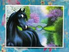 Original PRINT ACEO by Bridget Voth Horse Spring Beauty by the lake 2013 Mini
