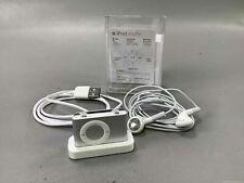 Gray Apple iPod Shuffle, Charger, Earbuds, bundle