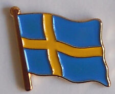 Sweden Swedish Country Flag Enamel Pin Badge