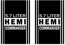 Jeep Commander Hemi side stripes graphics Sticker 7 year Vinyl -Black