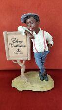 Duncan Royale Early Americans Little Boy Figurine Ebony Signature Piece.