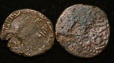 Lot X 2 Umayyad Islamic Ancient Coins - Vg Condition