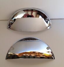 "Chrome Headlight covers 7""  Half Moon Shields NEW Pair large single sealed beam"