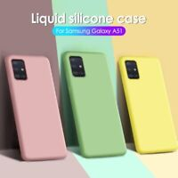 For Samsung A71 A30S A50S A20E A51 Shockproof Liquid Silicone Soft TPU Back Case