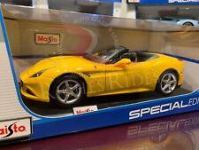 Maisto 1:18 Scale Diecast Model Car - Ferrari California T Convertible (Yellow)