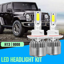 1Pair H13 LED Headlight Bulbs for Jeep Wrangler Patriot 2007-2017 High Low Beam
